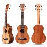 Instrument de musique d'ukulélé d'acajou d'acajou de couleur du bois de 21 pouces 4 cordes avec des médiators / corde