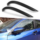 2 X Karbon Fiber Renk Kapı Yan Ayna Kapağı Araba Çıkartmaları Trim Honda Civic Için 2016-18