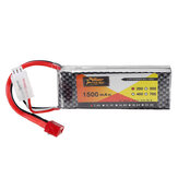 ZOP Power 7.4V 1500mAh 2S 25C Lipo Battery T Plug for  for WLtoys 144001 A959-B A969-B A979-B 1/18 HBX 16889 RC Car