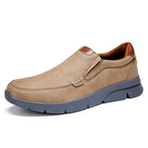 Menico Men Microfiber Leather Comfy Slip-on Business Casual Shoes