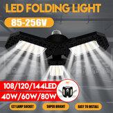 40W 60W 80W E27 LED لمبة SMD2835 مرآب قابل للطي ضوء مصباح السقف المشوه تركيبات AC85-265V