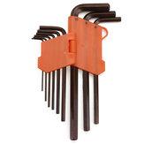 9pcs clé hexagonale outils clé hexagonale ensemble bras extra-long AllenTorque Sae Memtric clé Torx