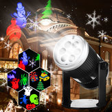 6 Patterns 4W LED Stage Light Laser proiettore lampada Landscape Garden Decor per Halloween Natale