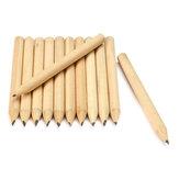 新しい100ピース送料無料ログ木材短い鉛筆8.6センチ環境に優しい鉛筆学校学生機械グラファイト