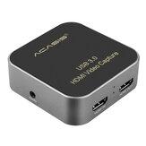 ACASIS USB3.0 1080P HD Captura de video Caja para Game Live Broadcast Tarjeta de grabación de video para Youtube OBS Tik Tok PS4 PC Teléfono móvil