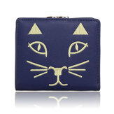 Women Cute Cat Short Wallet Ladies Lovely Animal Hasp Purse Card Holder Coin Bags