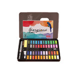 Giorgione 48 Colors Solid Watercolor Pigment Set Metal Iron Box Painting Tools Hand Painted Pigment Art for Drawing Supplies