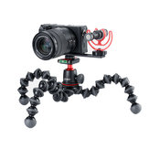 Ulanzi PT-5 Mikrofon Mount Plate Bracket Holder Forlænger Bar med Kold Sko 1 / 4-20 Tripod Hul til DSLR Camera