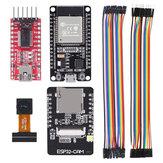 AOQDQDQD® ESP32 CAM WiFi fejlesztőtábla + ESP-32S fejlesztőtábla + FT232RL FTDI + Jumper Vezeték Arduino Raspberry Pi ESP32 fényképezőgéphez