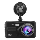 4 Inch 1080P HD Auto Dual Lens voor + achter Dashboardcamera DVR Camera Recorder Touchscreen