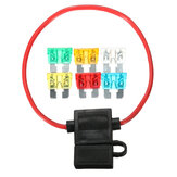 12V Car In-line Standard Blade Fuse Holder Waterproof with 5A 10A 15A 20A 25A 30A Fuses