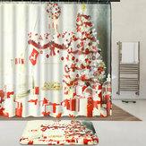 Kapalı Noel Elbise Yukarı Duş Perdesi Astar Su Geçirmez Banyo Su Geçirmez Halı Paspas