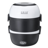 Portable Electric Lunch Box 3 Layers Storage Steamming Container Cooker Heating
