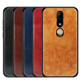 Mofi Odporny na wstrząsy PU Leather Pattern Soft TPU Back Cover Ochronny pokrowiec do Nokia X6 / 6.1 Plus