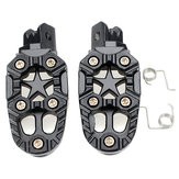 Motorcylce Bike Foot Pegs Pedals Treadles Footrest Foot Peg Universal Aluminum Alloy Sliver Black