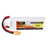 ZOP Power 11.1V 2200mAh 3S 20C Bateria Lipo XT60 Wtyczka do Eachine Wizard X220 FPV Racing RC Drone