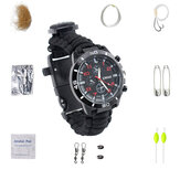 Multifuncional Compass Fishing Survival Watch Gear Bangle Parachute Cord Outdooors Survival Kit
