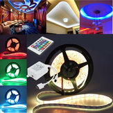 10M/15M/20M 5050 RGB Waterproof LED Strip Light DC12V+24 Key IR Remote Controller for Indoor Outdoor Garden