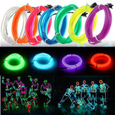 3M Led Flexibele EL Wire Neon Glow Light Strip Strip 12V Voor Christmas Holiday Party