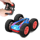 Samewing 9888 2.4g dupla face stunt off road carro rc 360 graus flip w / LED luz cor aleatória