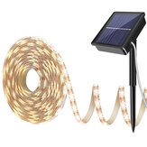 Sıcak Beyaz Solar Güç Işık Şeridi 2835 LED IP65 Su Geçirmez Outdoor Bahçe Dekor