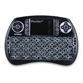 IPazzPort KP-810-21S 2.4GHz 3 Renkli Arkadan Aydınlatmalı Kablosuz Mini Klavye Hava Mouse Uzakdan Kumanda Dokunmatik Yüzey Android Akıllı TV için Kutu