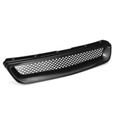 ABS Front Hood Grill Grille For Honda Civic 1996-1998 JDM T-R Style