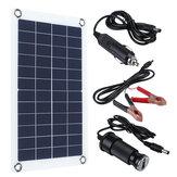 30W 12V Solar Panel Monocrystalline Silicon Battery Charger Kit 0-800MA Silicon