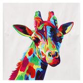 Dipinti decorativi da parete senza cornice Giraffa colorata Stampa su tela Immagini Immagini Decorazioni da parete per home office