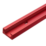 Alliage d'aluminium rouge 300-1220mm T-track T-slot Mitre Track Jig T Screw Fixture Slot 19x9.5mm Pour Table Saw Router Table Woodworking Tool