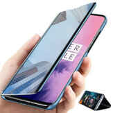 Bakeey for Xiaomi Redmi 9A Case Foldable Flip Plating Mirror Window Shockproof Full Cover Protective Case Non-original