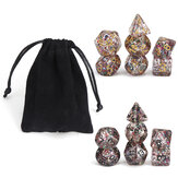 Dadi poliedrici 7 pezzi per Dungeons and Dragons Party Game Toy con Borsa