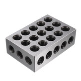 Machifit 2pcs 25x50x75mm Blocks 23 Holes Parallel Clamping Block Lathe Tools Precision 0.005mm