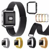Remplacement de grande taille Metal Frame Frame 235mm Wristband pour Fitbit Blaze Watch