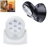 Batteridriven IR Rörelsesensor LED Nattlampa 360 grader Automatisk På / Av Vägglampa för Hallgård