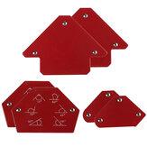 6 Pcs Segitiga Welding Positioner Magnetic Fixed Angle Solder Locator Alat Tanpa Saklar Aksesoris Las