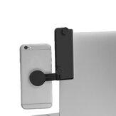 Suporte do telefone móvel clipe de montagem lateral de tela dupla para tablet laptop pc