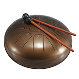 10 Inch 11 Notes Bronze Steel Tongue Percussion Drums Handpan Instrument with Drum Mallets and Bag