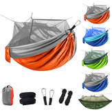 Outdoor Camping Lightweight Picnic Hammock with Mosquito Net 1-2 Person Portable Backpack Hammock Sleeping Mattress
