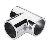 22mm 7/8 Inch 316 Stainless Steel 3 Way 90 Degree Tee Yacht Marine Boat Handrail Fitting