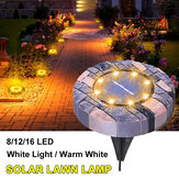 Solarbetriebene 8/12 / 16LED Lawn Light Imitation Stone Buried Lampe für Outdoor Garden Path Street