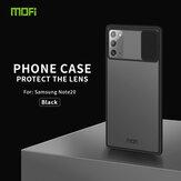 MOFI Anti-Hacker Gözetleme Slayt Lens Kapak Darbeye Dayanıklı Çizilmez Saydam Mat Silikon Koruyucu Kılıf Samsung Galaxy Note 20 için