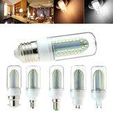 E27 B22 E14 E12 G9 GU10 5W 500LM SMD2835 84LEDs Lâmpada de milho branco puro branco quente AC85-265V