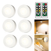 6PCS Battery Powered LED Under Cabinet Kitchen Counter Night Light + 2 Wireless Remote Control