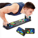 12-In-1 Foldable Muscle Training Push-Up Board Home Push Up Stand Fitness Exercise Tools