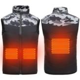 Dziecięca, dziecięca, elektryczna, podgrzewana kamizelka USB ocieplacz na zimę kurtka inteligentna odzież zewnętrzna bez rękawów bawełniane płaszcze
