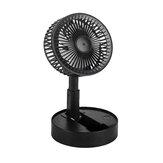 Ventilador portátil recarregável USB 180 ° Ventilador portátil de mesa para escritório Ventilador retrátil dobrável Mini ventilador externo