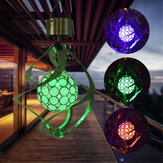 Solar Powered Wind Chimes Light 7 Color Changing LED Garden Hanging Spinner Lamp