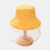Kids / Little Kids(3-8ys) Children's Solid Color Dustproof Bucket Cap Removable Face Screen Cap
