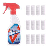 Effervescent Spray Cleaner Bottle with 10PCS Multifunctional Effervescent Spray Cleaner Set